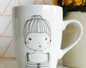 stripe girl Coffee / Tea  Mug