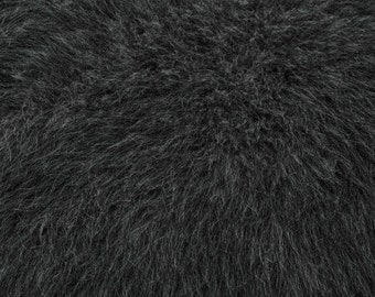 Fun Monkey Fur Charcoal 60 Inches Fabric by the Yard, 1 yard