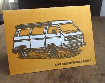 VW Vanagon Camper Card
