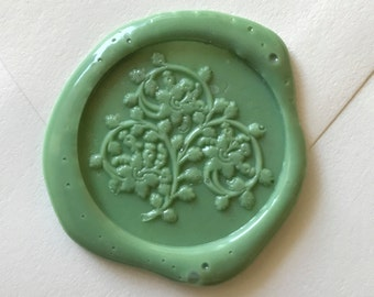 Pina leaves plants wax seal stamp /Heypenman crossover with BlackmarketIntl/