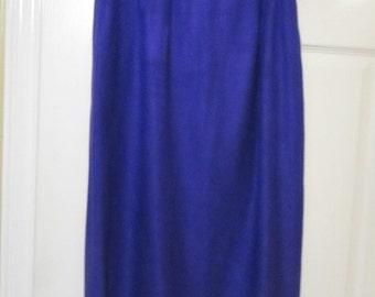 Womens wool blend Purple lined pencil skirt size 10 vtg skirt