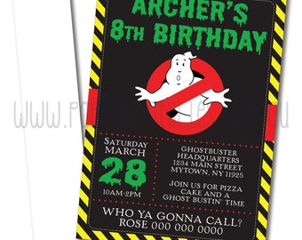 Ghostbusters Party Invitation | Ghostbusters Party Invitation Printable | Ghostbusters Party | Party Printables