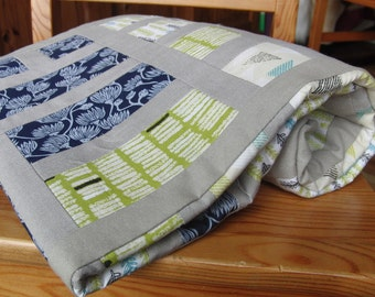 Serenity patchwork quilt kit / QUILT KIT with pattern and fabric