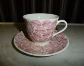 REDUCED PRICE // Vintage Swedish Rare coffee cup and saucer - Betula Gustavsberg - Stig Lindberg design - 1960