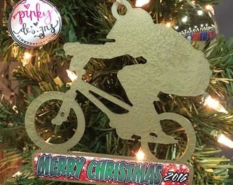 Boy BMX Christmas Ornament