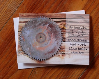 Be Humble Greeting Card - Encouragement and Inspiration