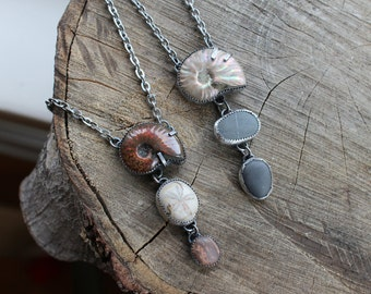 In the Spiral of a Nautilus Natural History Necklace