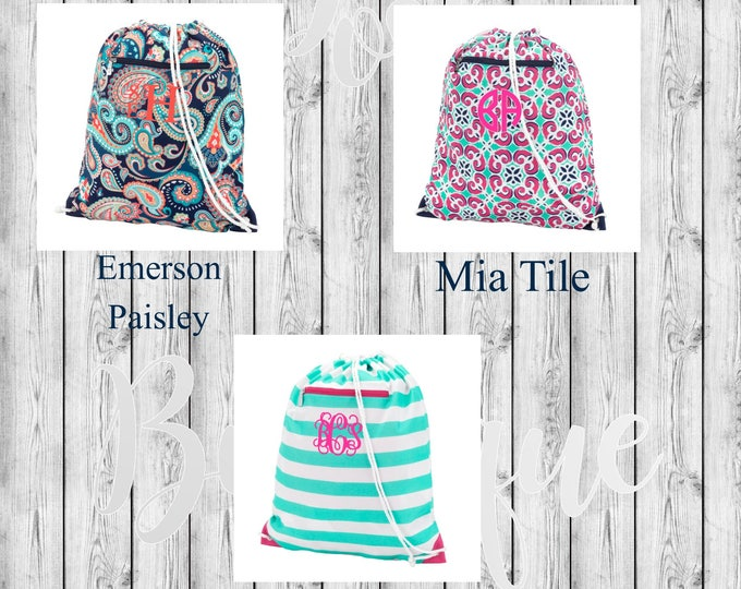 Monogrammed Gym Bag, Back To School, Backpack, Girls Backpack, Monogrammed Backpack, Monogrammed Bookbag, Back to School Necessities
