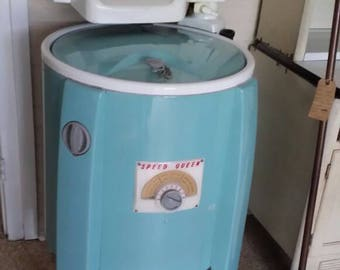 Vtg Speed Queen Washing Machine with Ringer -SHIPPING is Not FREE! - Contact for Shipping Quote