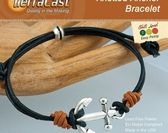 TierraCast DIY Knotted Anchor Bracelet Quick Kit