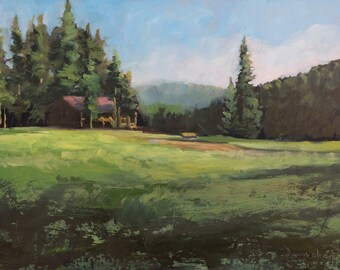 Early Morning at Beaubien - Philmont - New Mexico - Original Oil Landscape Painting