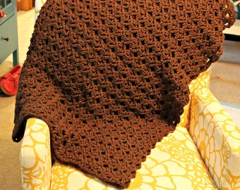 Cozy Lace Throw crochet pattern - afghan pattern - chunky blanket crochet pattern