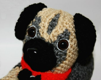 Pug Slippers - Funny Sock Slippers - Slipper Socks - Cool Sock Slippers - Adult Slippers - Crochet Dog Slippers - Crochet Slippers