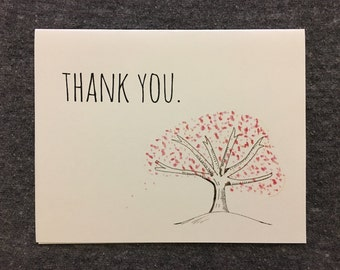 Cherry Blossom Thank You: 4x6 Card