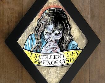The Exorcist (Regan) diamond framed print