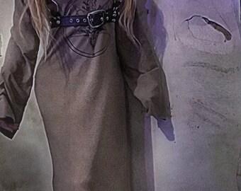 Dark metal chaosville Baal long hooded dress