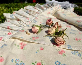 Antique French Floral Rose Print Pillowcase