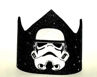 Star Wars Birthday Crown // Storm Trooper Party Hat // 1st Birthday Crown // 2nd Birthday Hat