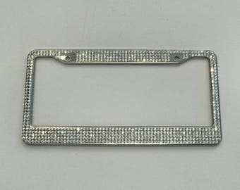 Bling Rhinestone Crystal License Plate Frame 5 Row - Super SPARKLY & SHINY