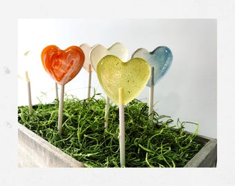 Build Your Own Gift Box // 20 Heart Lollipops  // Mix and Match up to 4 Flavors // Say Thank You // Fall Weddings
