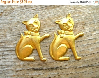 Happy Cat - Brass Stampings - Happy Cat Embellishments - Brass Findings