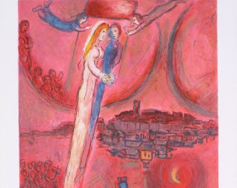 Marc Chagall-The Song of Songs-1975 Mourlot Lithograph