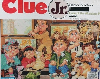 Clue Jr. Junior Case of the Missing Pet by Parker Brothers 1989 Complete Vintage Board Game