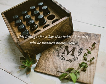Wood Box for 25 Essential Oils