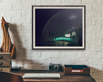 montreal biosphere night photography print