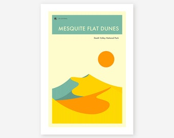 DEATH VALLEY National Park (Giclée Fine Art Print/Photo Print/Poster Print) 'Mesquite Dunes' by Jazzberry Blue
