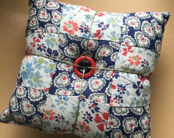 Vintage quilt block pincushion