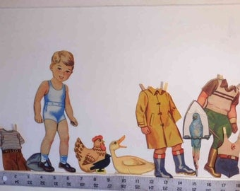 """On Clearance - Vintage 1943 """"Farmer Fred"""" paper doll    Lowe #523  1943"""
