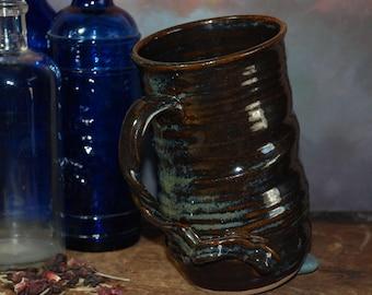 Large Handmade Ceramic Beer Stein