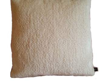 Mid Century Cream Chenille Pillow Cover (B3)