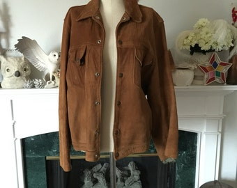 50s Ball Chain Label Soft Leather Work Jacket
