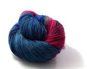 Hand dyed Yarn - Hand painted Sock yarn  - Sock Yarn Fingering -  blue, pink, green, greenblue, lilac - knitting - hand dyed sockyarn - OOAK