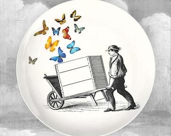 Butterfly Cart melamine dinnerware