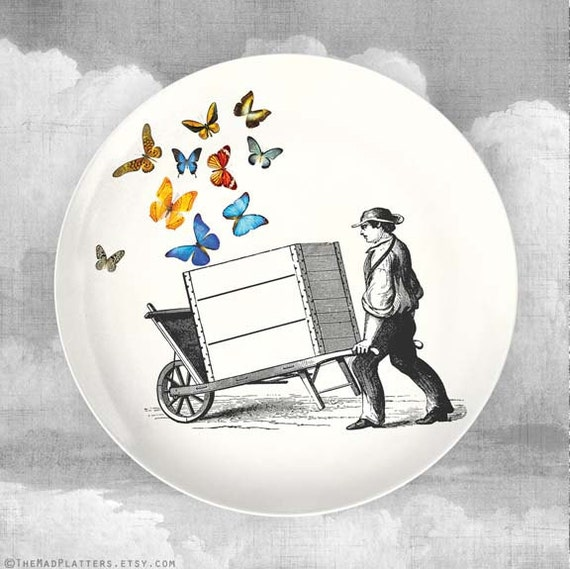 Butterfly Cart melamine dinnerware