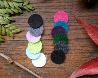 Additional Felt Circles for Essential Oil Pendants. Extra Felt for Personal Diffuser Necklace.