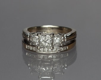 14kt White Gold and Diamond Wedding/Engagement Ring 1.94cts Size 5.75