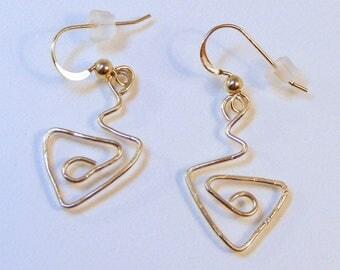 14 Karat Gold Filled Flair Earrings