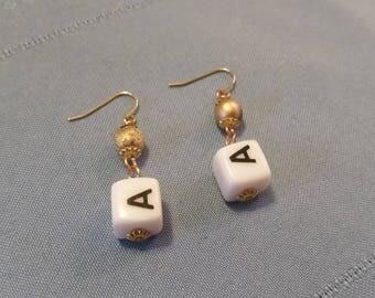 Monogram A Drop Earrings