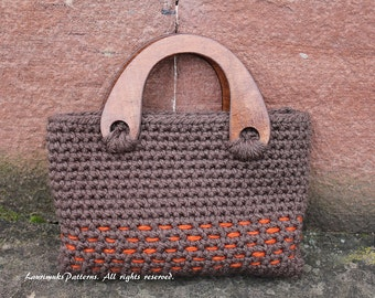 CROCHET PATTERNS for women, purse with decorative stitch, retro bag pattern - Listing82