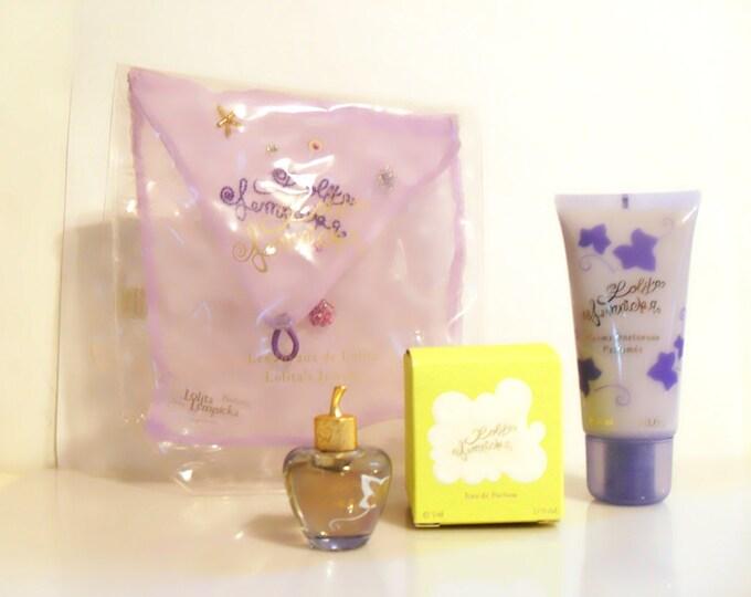 Vintage Lolita Lempicka 0.17 oz Eau de Parfum Mini Miniature & Body Cream Gift Set PERFUME