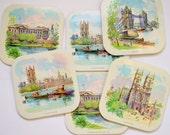 Set of Six Vintage London Placemats