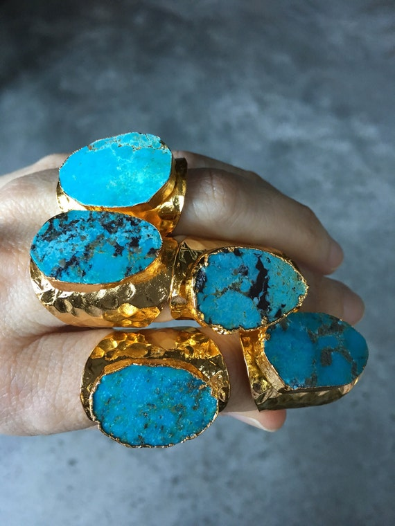 Turquoise Statement Rings