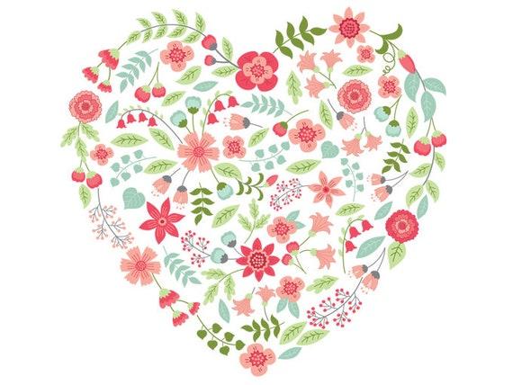 florale herz clipart vektor florale herz clipart blume herz. Black Bedroom Furniture Sets. Home Design Ideas