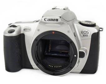 Canon EOS 300 35mm SLR Film Camera Body Classic Vintage 1990s Retro Model