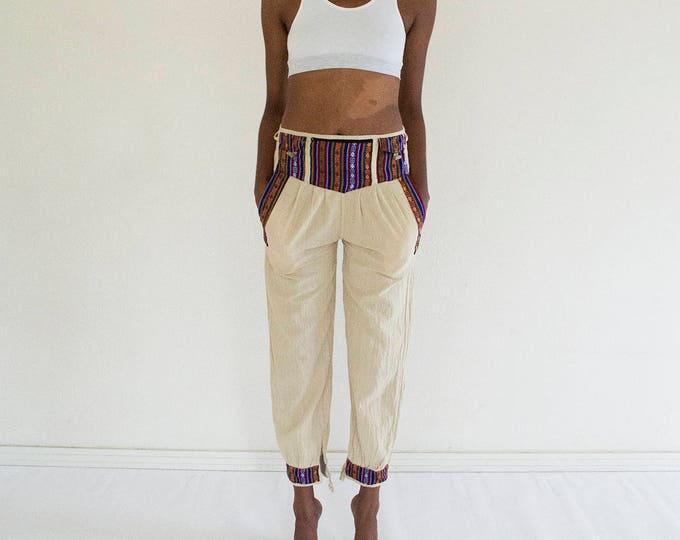 90s Embroidered Palazzo Pants