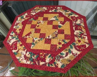 Quilted Christmas Table Topper Quilt Winter Impressions 219
